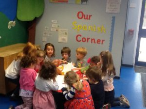 We are really enjoying our new Spanish corner!